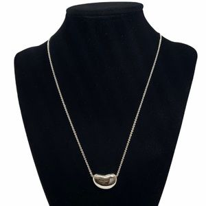 """Tiffany & Co. 20mm Large Bean Pendant Necklace 18"""""""